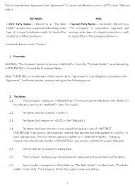 Program Notes Template Shareholder Promissory Note Template