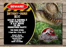Jurassic Park Invitations Jurassic Park Invitations Free Invitation Templates
