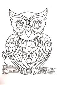 Drawing Owl Print Coloring Children And