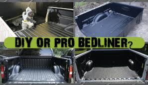 pro or diy spray in bedliner