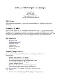 Sample Resume Entry Level Resumes Templates Sample Resumes
