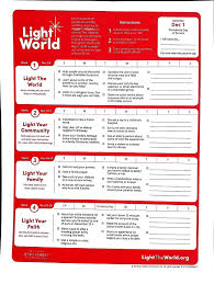 2018 Light The World Calendar Christmas Service Calendar Light The World 2018 Sugar