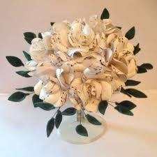 Paper Flower Lyrics Sheet Music Paper Rose Bouquet Flipside Bride