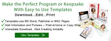 How To Make A Funeral Program How To Create A Funeral Program Make A Memorial Program