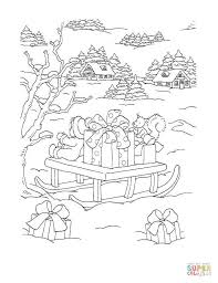 Boy Is Writing Up Christmas List Coloring Page Free Printable