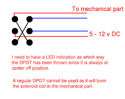 how can i switch between 2 leds using a momentary dpdt switch all