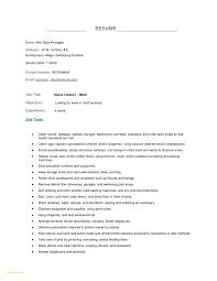 House Cleaning Resume Sample Best Supervisor Resume Template