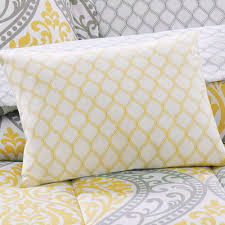 absolutely yellow and grey quilt mainstay damask coordinated bedding set bed in a bag com