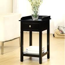 astonishing telephone table with storage about remodel interior tall decor minimalist black end tables