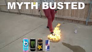 Lighting Bang Energy Drink On Fire Are Energy Drinks Really Flammable Bang Monster Rockstar Red Bull