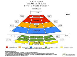 Plenary Seating Chart John Legend The All Of Me Tour Live In Kuala Lumpur 2014