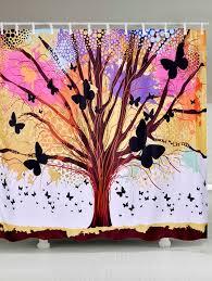 latest tree of life erfly waterproof fabric shower curtain