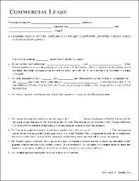 Standard Commercial Lease Agreement Business Lease Agreement Gratulfata