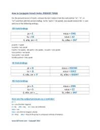 Basic French Verbs Conjugation Chart Pdf Free Printable French Worksheets At Qcfrench Com