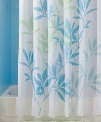 love this soft blue green leaves shower curtain