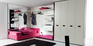 closet ideas for teenage boys. Design With Red Sofa Bed Black Fur Rug White High End Closet Beside Wall Clothes Hanger And Floating Drawer Ideas ~ Room Designs For Teenage Boys