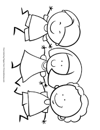 111 free images of kids holding hands. Kids Holding Hands Coloring Page Free Printable Pdf From Primarygames