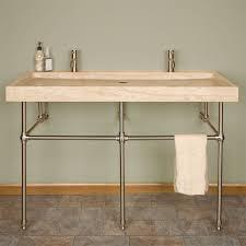 bathroom console vanity. CLAWFOOT TUB BATHROOM - Trough Sink, Carrara Marble Top 48\ Bathroom Console Vanity