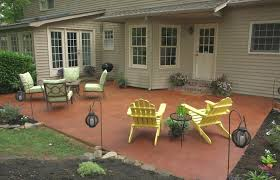 home elements and style medium size transform a concrete patio diy stamped patios pavers