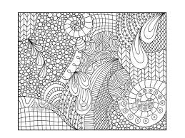 Small Picture Zentangle Inspired Coloring Page Printable PDF Zendoodle