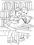 Картинка библиотека раскраска