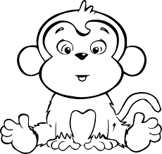 Baby Monkey Coloring Pages Printable Free Printable Baby Monkey