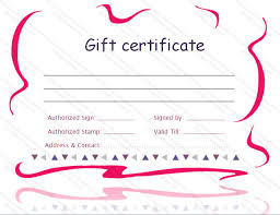 Microsoft Word Templates Gift Certificates Printable Gift Certificate Template Gift Certificate Templates