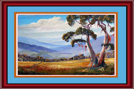 when you learn how to paint a gum tree you will use the same painting techniques to paint all your gum trees that is the painting technique remains the