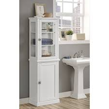 brighton hill scarsdale white bathroom tall cabinet