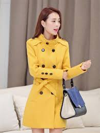 winter women wool coat double ted slim long trench coat plus size female autumn jackets clothes top216