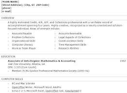 Accounts Payable Resume Template Best Sample Accounts Receivable Resume Sample Accounts Receivable Resume