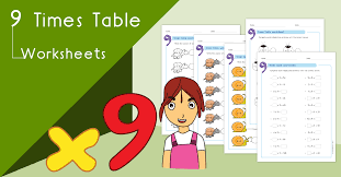 9 Times Table Worksheets Pdf Multiplying By 9 Activities