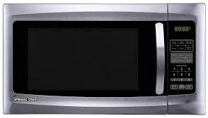 details about magic chef countertop microwave 1 6 cu ft 1100 watts pre programmed stainless