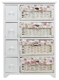 Wicker Basket Cabinet Abriata Wicker Basket Wooden Storage Cabinet Furniture