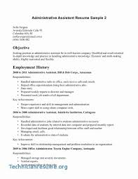 Administrative Assistant Resume Objective Gorgeous Executive Assistant Resume Samples Original Best Administrative