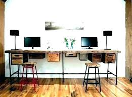 two desk home office. Two Person Home Office Desk Furniture Dual 2  Within For Ideas .