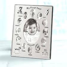12 Month Baby Picture Frame Boy Girl Year Infant Growth