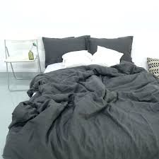 stonewashed duvet cover charcoal dark grey stone washed linen duvet cover set purchasing intended for ed