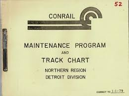 Conrail Track Charts Details About Conrail Maintenance Program And Track Chart Northern Region Detroit Division