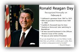 Ronald Reagan Day Time For The Holidays
