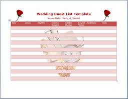 free guest list template Wedding Invitations Guest List Templates Wedding Invitations Guest List Templates #49 wedding invitation list templates