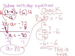 two step equations with fractions math solving multi step equations math algebra solving equations middle school math grade math one step equations