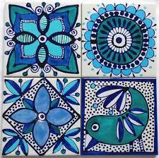 painted tile designs. Hand Painted Ceramic Tile Coasters Wellbx Tiles Designs C