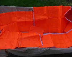 Nylon quilted fabric   Etsy & Quilted Orange fabric, traffic orange, nylon,vest fabric. Adamdwight.com