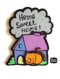 Small Picture Home Sweet Home Cat Magnet Buy Cat products Online Dog Stores
