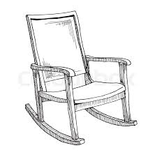 rocking chair sketch. Fine Sketch Rocking Chair Isolated On White Background Sketch A Comfortable Chair  Vector Illustration  Stock Colourbox For Chair I