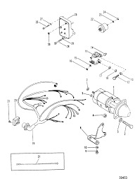 Starter motor and wiring harness for mercruiser hp 7l170 hp180 llx190 single phase starter wiring