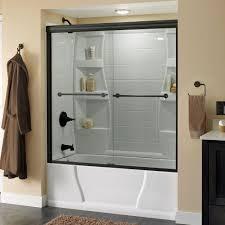 semi frameless sliding shower door beautiful of bronze sliding glass doors woonv handle idea