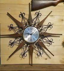starburst wall clock mid century og