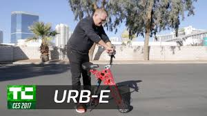 URB-E's <b>newest foldable electric</b> scooter - YouTube